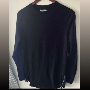 Topman Long Sleeve Side Zip Longline T-shirt